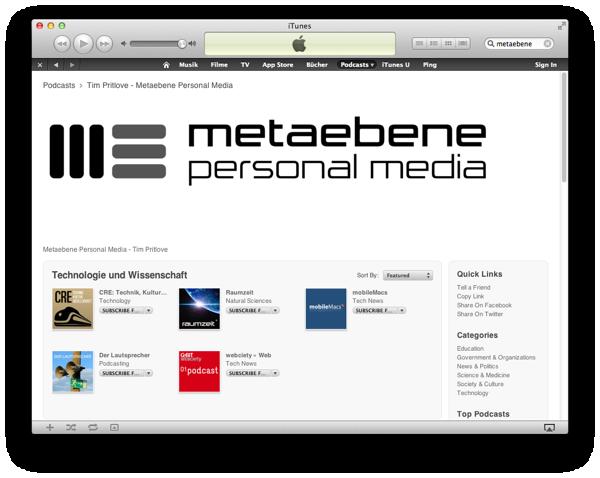Metaebene @ iTunes
